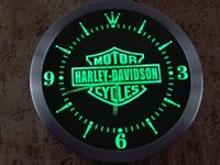 Wholesale TRR007 b Motorcycles LED Neon Sign Wall Clock