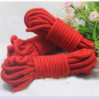 Cheap sex toy Adult couples passion game red braided rope bondage offbeat toys