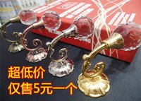 affordable costumes - Affordable high end premium curtain wall hooks hook zinc alloy antique crystal curtain wall hook strap buckle decorations