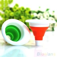 Wholesale New Cute Collapsible Mini Silicone Gel Practical Foldable Funnel U8I BL