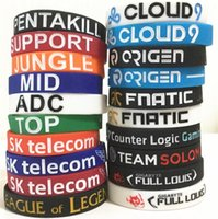 200pcs 20 designs LOL LOL bracelet GAMES Souvenirs Silicone Wristband League of legends Bracelets avec ADC, JUNGLE, MID, SUPPORT, TOP D599