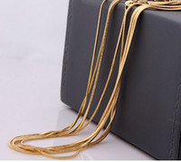 Wholesale snake chain kgf gold plated snake chain inch necklace snake chain