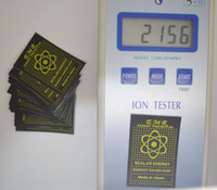 Wholesale 300pcs anti radiation cellphone mobile sticker saver chip Sticker fusion excel hot design sticker emr energy protection