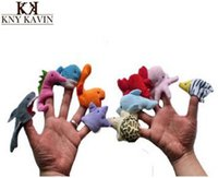 Wholesale 10 Ocean Cartoon Animals Finger Puppet baby toy Educational Story telling Toy hand puppet order lt no tracking