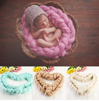 baby wool blanket - In the latest version of baby blanket Wool woven carpet Neonatal props multicolor