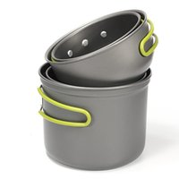 Wholesale It s hot Outdoor Camping Hiking Picnic Cookware Pot Bowl Set