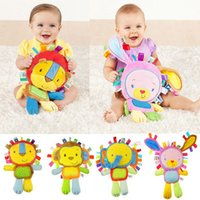baby teeth grinding - baby animal bell sleeping comfortable soft tiger plush toys Animal grind one s teeth calm animal toy best gift for baby