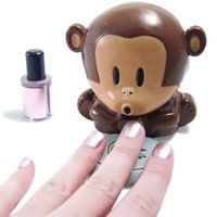 Cheap Wholesale-Cute Monkey Manicure Nail Dryers USB power supply Polish Blower Dryer Nails Dry Machine Tools