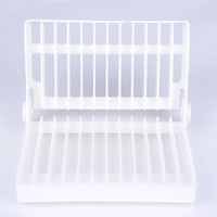 Wholesale 2015 New Plastic Kitchen Cooking Tool Dish Rack Storage Holders Racks Dinner Plates Tableware Folding Rack X60 JJ0265 S1