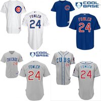 dexter - 2015 NEW Arrival Authentic Mens Chicago Cubs Jerseys Dexter Fowler Baseball Jersey stitched Embroidery logos Size S XL