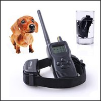 Wholesale One Dog Rechargeable and waterproof LV Electronic Remote pet dog Training Collar With LCD Display
