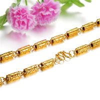 bamboo plastic plates - popular personality K gold jewelry bamboo necklace men KX613