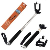 Wholesale 2 in High Quality Extendable Selfie Stick Handheld Monopod Clip Holder for IOS Android Phones Camera