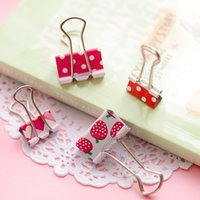 Wholesale Metal Binder Clips New Sweet Printing mm mm Paper Stationery Holder Office School Supplies Desk Accessories
