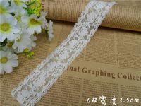 Wholesale White Flower Elastic stretch Lace Trim DIY Craft cm