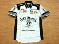 Wholesale LOGO Embroidery F1 NASCAR IndyCar V8 Supercar MOTO GP Racing Cotton Jack Daniel Shirts Motorcycle Rider Shirt Jack Daniel s Shirts A414