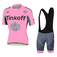 spandex clothing - Tinkoff Saxo Cycling Jerseys Set Road Bicycle Clothing For Women Short Sleeve With Padded Bib None Bib Pants High Elastic Spandex Suit