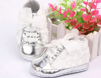Wholesale 2015 New Baby Kid Girl Toddler Non slip Soft Sole Crib Sneaker Shoes Prewalker Boots pairs