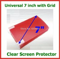 Wholesale inch LCD Screen Protector with Grid for Mobile Phone GPS MP3 MP4 MP5 PDA Tablet PC Protective Film x92mm Cut Free