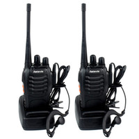 Wholesale Civilian Walkie Talkie - 2pcs Retevis H-777 Walkie Talkies Transmitter & Receiver UHF 400-470MHz 5W 16CH Single Band Portable 2-Way Radio SMA-F Free-earpiece A9105A