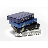 Wholesale Passcode Aluminium Credit Card Holder Mini Briefcase Business Card Case personalized gift mon