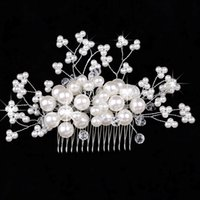 Wholesale 2015 Bridal Accessories Tiaras Hair Accessories New Arrival White Red Pearls Headwear For Wedding Or Others High Quality