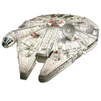 Wholesale 2016 New Arrived Star Wars Millennium Falcon Paper Model Ship Kid s DIY toy Intellectual Resources Part