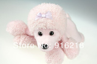 big poodle - High Quality Puppy Shaped Wrist Rest Screen Wiper Cleaner Pink Poodle Dog Big Eyed Stuffed Animals Plush Toys