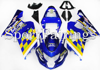 telefonica - Fairings Fit Suzuki GSXR600 K4Year ABS Motorcycle Fairing Kit Bodywork Motorbike Cowling Fairings Telefonica Blue