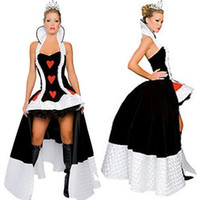 Wholesale 2015 Best Price Classic Style Long Women s Sexy Halloween Costume Enchanting Queen of Hearts Game Costume