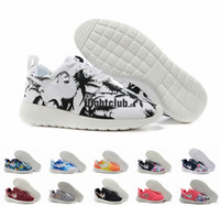 Wholesale 2015 Roshe Run Floral White Black Palm Tree Sky Blue Sunset Mens Womens Running Shoes Cheap London Olympic Roshes Run Athletics Shoes