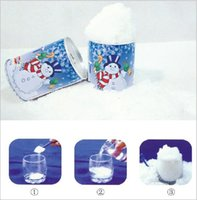 plastic foot - 5000 BBA4542 hot Christmas Decoration Instant Snow Magic Prop DIY Instant Artificial Snow Powder Simulation Fake Snow Night Party magic snow