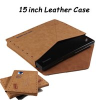 Wholesale Xmas Gift Retro Leather Case for Macbook Pro inch Laptops Envelope Style Sleeve inch Tablet PC Bag Cover Brown Cases Protective Pouch