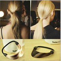 Wholesale Fashion Womans Girls Straight Hairbands Synthetic Hair Ropes hair rings Hair Circle Hair Accessories Hairpiece colors HR02