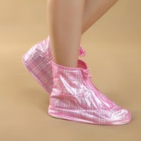 Wholesale Hot Sale Eco friendly Waterproof Shoes Cover Thickening Outdoor Rainproof Pink Shoes Cover ZZY1