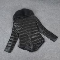 Precio de Leather jackets-Venta al por mayor de 2015 de las mujeres de piel sintética de lujo caliente la capa de cuero prendas de vestir exteriores de la chaqueta de manga larga Traje para la nieve Negro manera al por mayor WF-8470