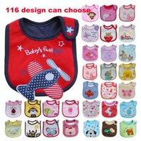 Beige bibs disposable - Cotton Baby Bibs layers waterproof bib Feeding Cartoon infant disposable baby bib