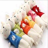 Wholesale 2015 Cute Stuffed Boys Girls Metoo Rabbit Pencil Case Children Boy Girl Students Bunny Plush Cartoon Pencils Box Cases Bags Bag D3739
