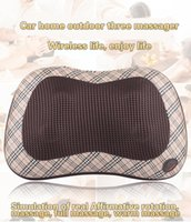 Wholesale Infrared Therapy Heated Shiatsu Massage Pillow Car Massager Deep Therapeutic Massage For Neck Shoulders Back Built in Four Massage Balls
