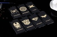 Wholesale The avenger case black pc Super Hero ironman Batman Superman Caption America X man