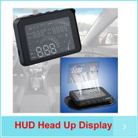 Wholesale inch HUD Car Head Up Display Bluetooth Wireless KM MPH RPM Voltage Clock Temp
