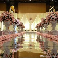 Wholesale 30 m Per m Wide Silver Plastic Runner Aisle Mirror Carpet For Wedding Centerpieces Decor Supplies Fast Delivery New Arrival
