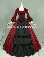 civil war clothing - Gothic Renaissance Victorian Dress Gown Reenactment Costume Civil War Ball Gown Period Dress Prom Reenactment Theatre Clothing