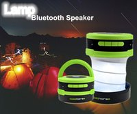Wholesale 1PCS DHL Lantern Flashlight Bluetooth Speaker Build in with Microphone and Loud Bass Ultra Portable for Camping Hiking Travel