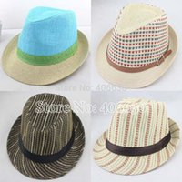 free shipping paypal - summer straw fedora hats for men chapeau panama hats women trilby hats Jazz hats accept paypal