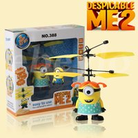 rc control robot - Newest Flying Toys USB Infrared Induction Control RC Helicopter Despicable Me Boy Girl Minions Plan Flying Balls Kids Toys Gift