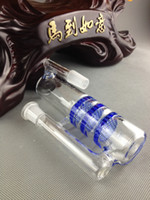 ash catcher - 2015 hot sale Ash catcher triple HC three honeycombs glass ash catcher bubbler different color high quality
