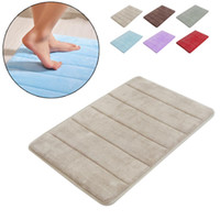 Wholesale Stylish Coral velvet mat design Velvet Memory Foam Non Slip Back Rug Soft Bathroom Carpet Memory Foam Bath Mat color