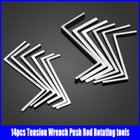 14 pcs auto push - 14pcs Tension Wrench Push Rod Rotating Rod Tools Lock Pick Tools Set Hot sale