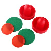air hockey table game - Plastic Air Hockey Pucks Table Handles Paddles Indoor Game air hockey table accessory